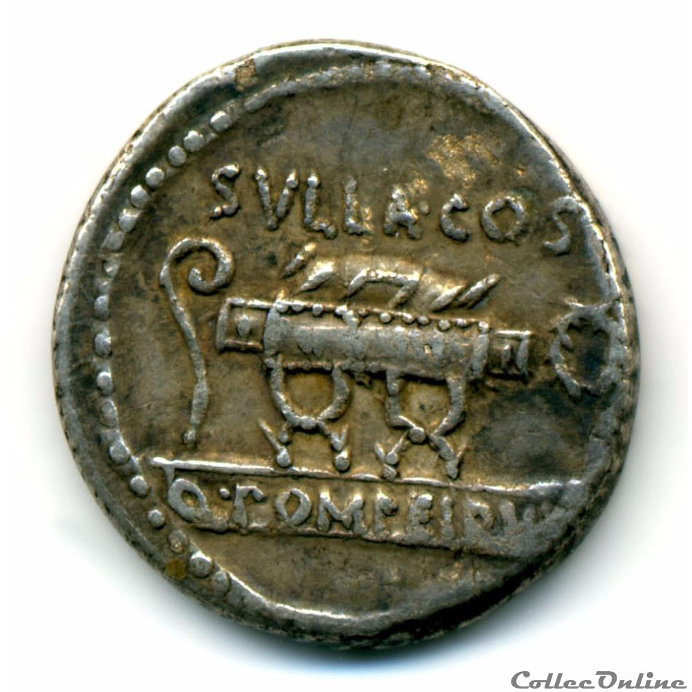 monnaie antique romaine quintus pompeius rufus