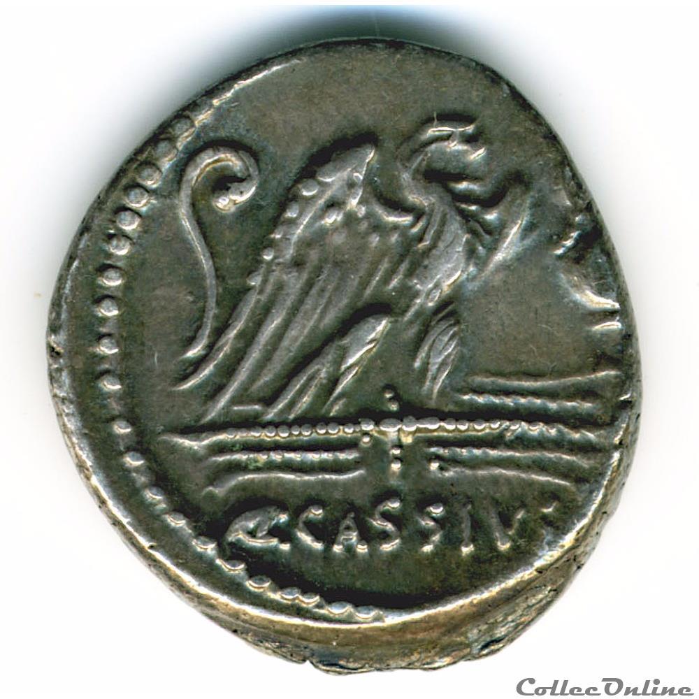 monnaie antique romaine quintus cassius longinus