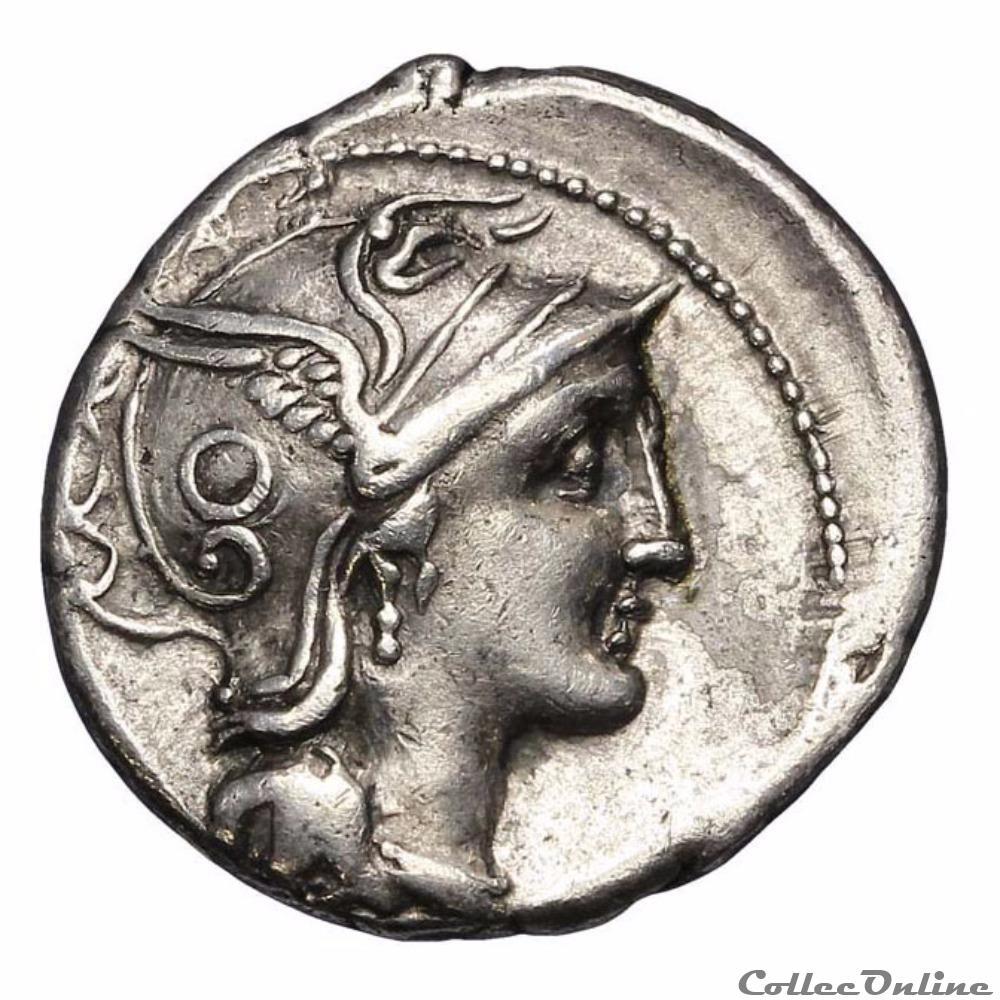 monnaie antique romaine caius claudius pulcher