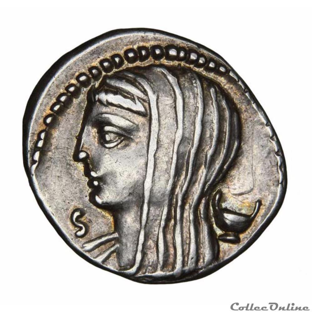 monnaie antique romaine lucius cassius longinus