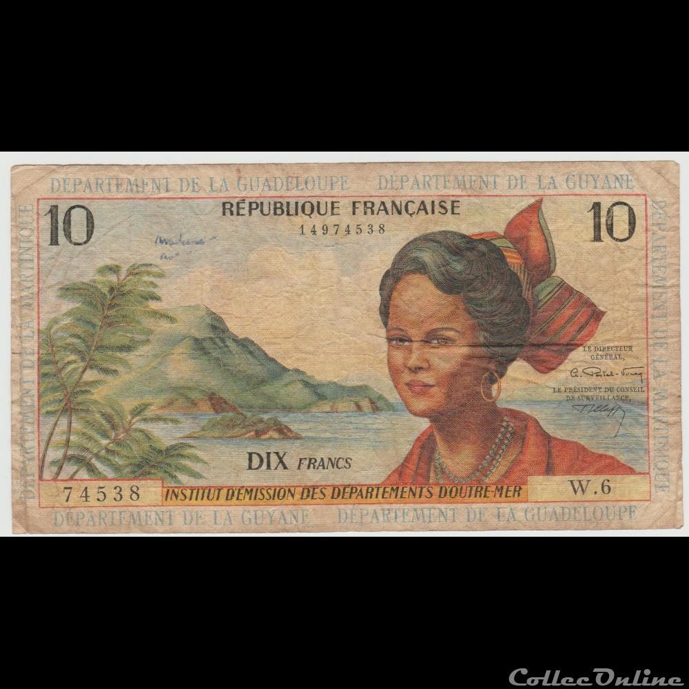 billet europe 10 francs 8b france outremer 1966