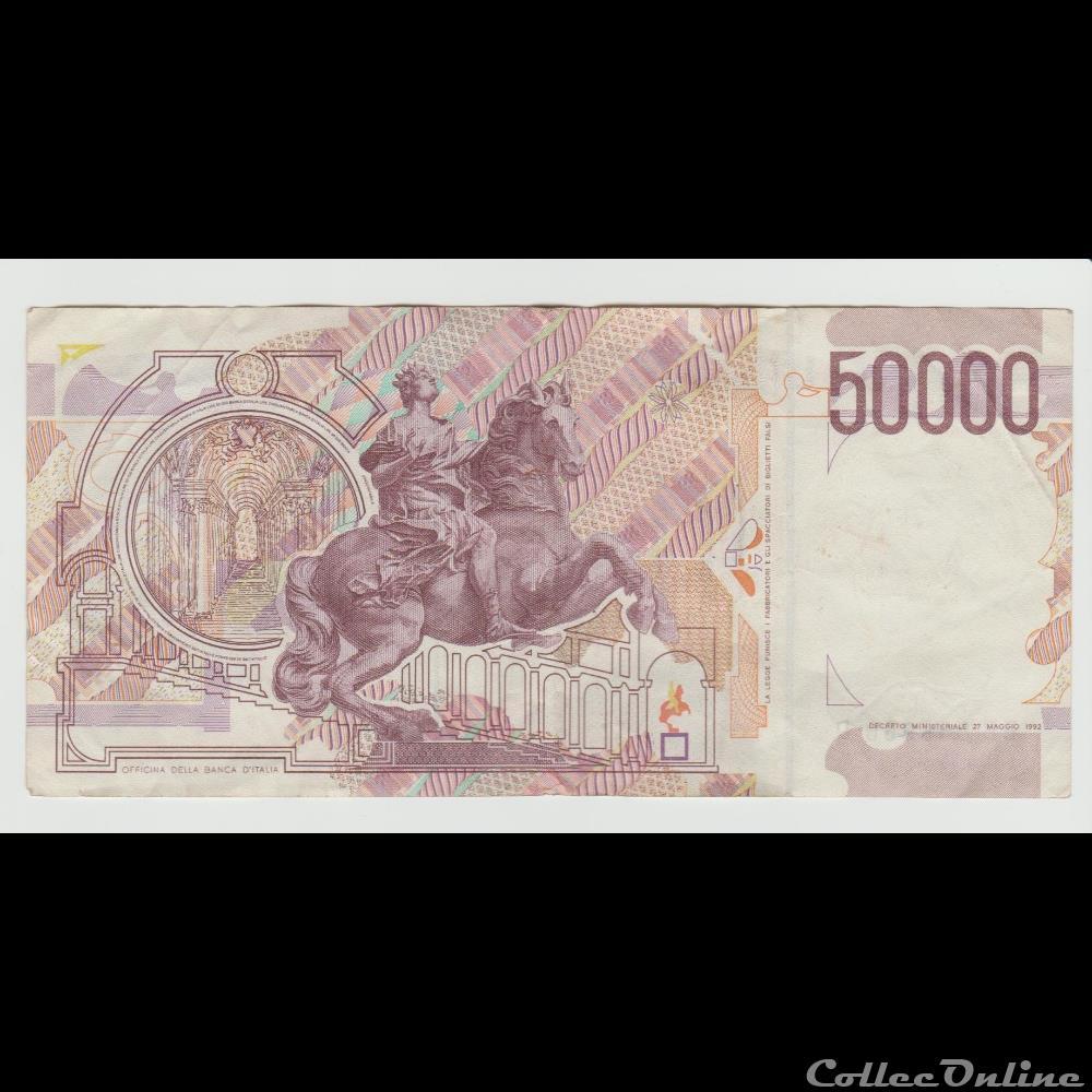 billet europe 50 000 lires 116 italie 1984 2em type
