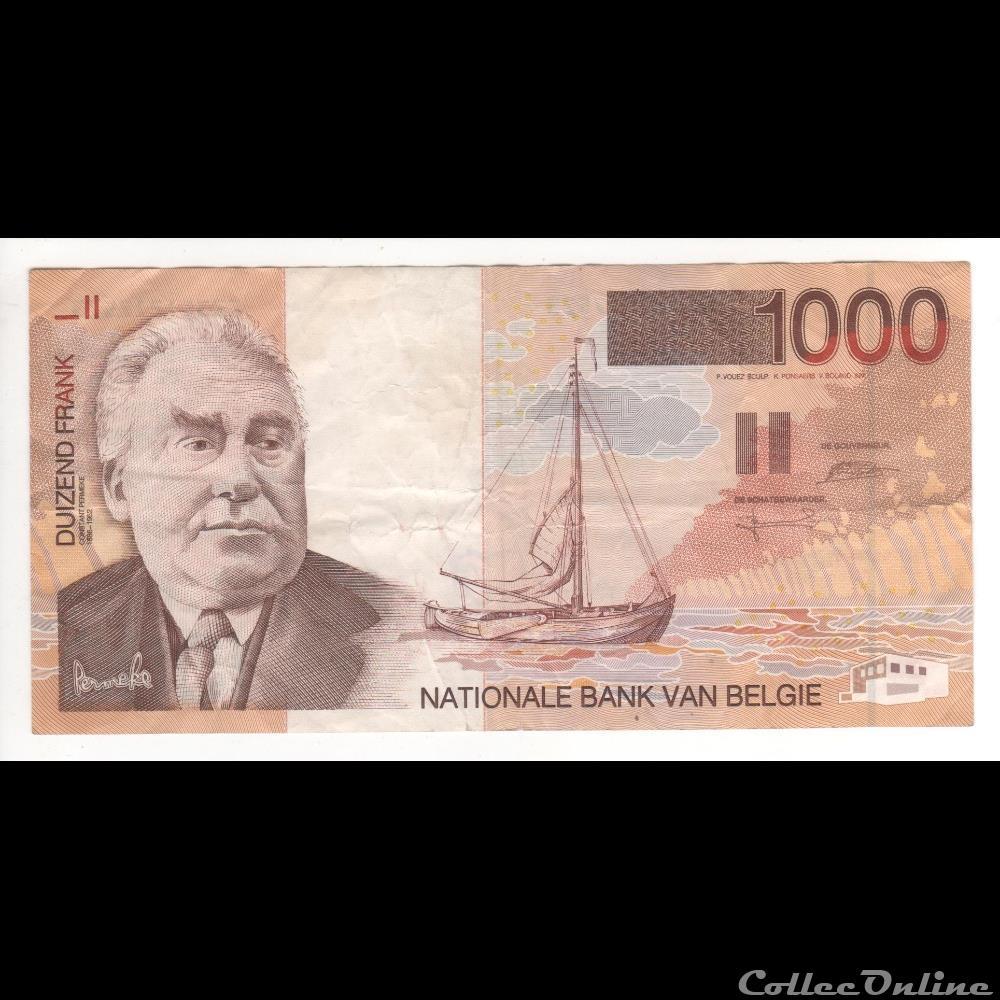 billet europe 1 000 francs 150 belgique 1997