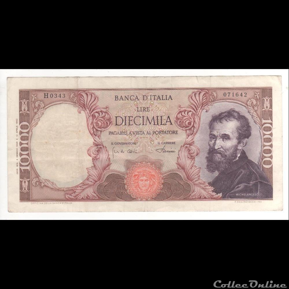 billet europe 10 000 lires 97 italie 1968