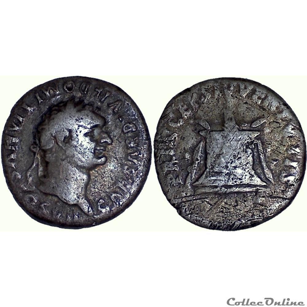 monnaie antique romaine 10 266 domitian caesar denarius altar