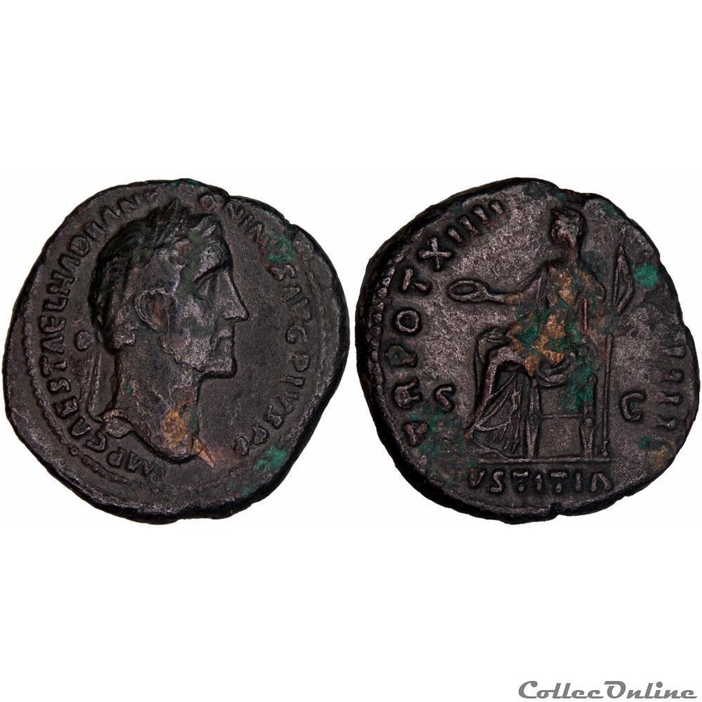 monnaie antique romaine 4 0881 atoninus pius as justitia