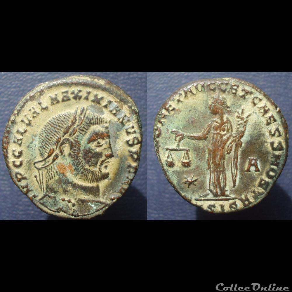 monnaie antique romaine galere nummus sicia sacra moneta