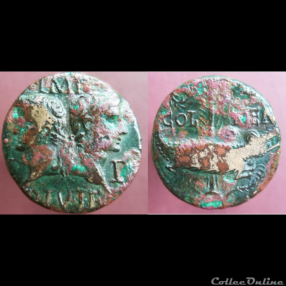 monnaie antique romaine dupondius de nimes