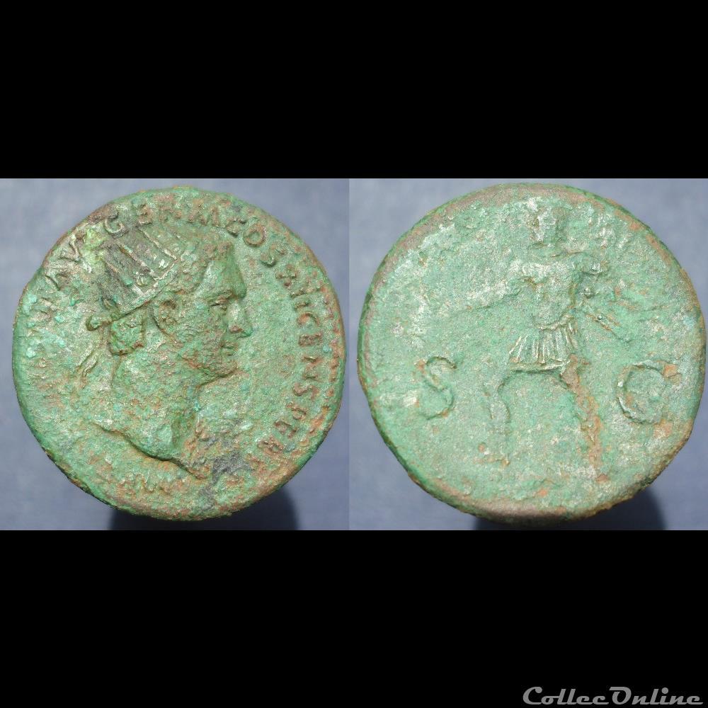 monnaie antique romaine domitien dupondius mars