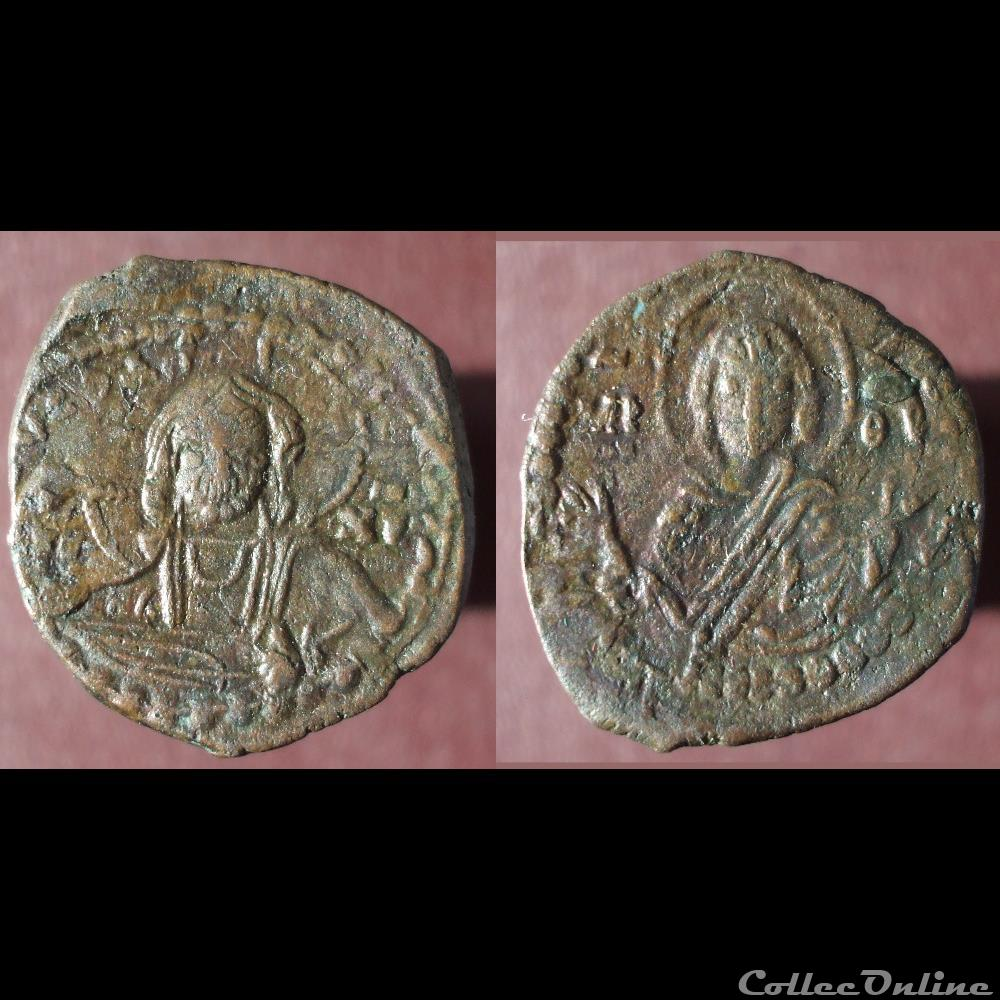 monnaie antique av jc ap byzantine follis anonyme au christ et a la vierge romain iv classe g