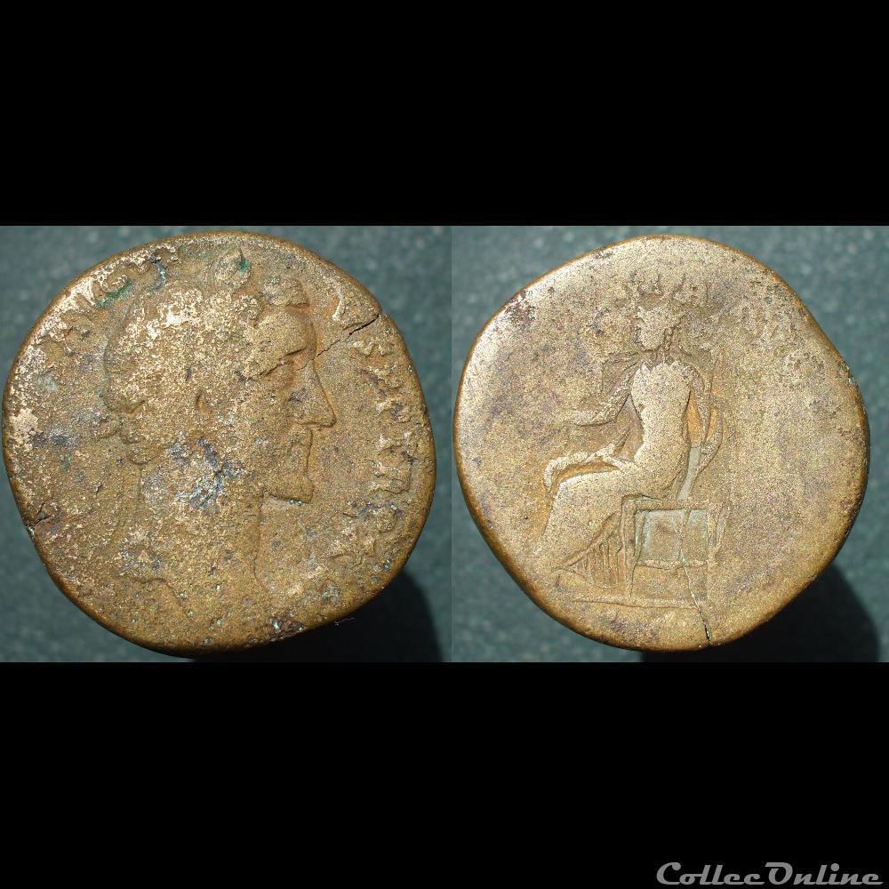 monnaie antique romaine antonin sesterce indulgentia