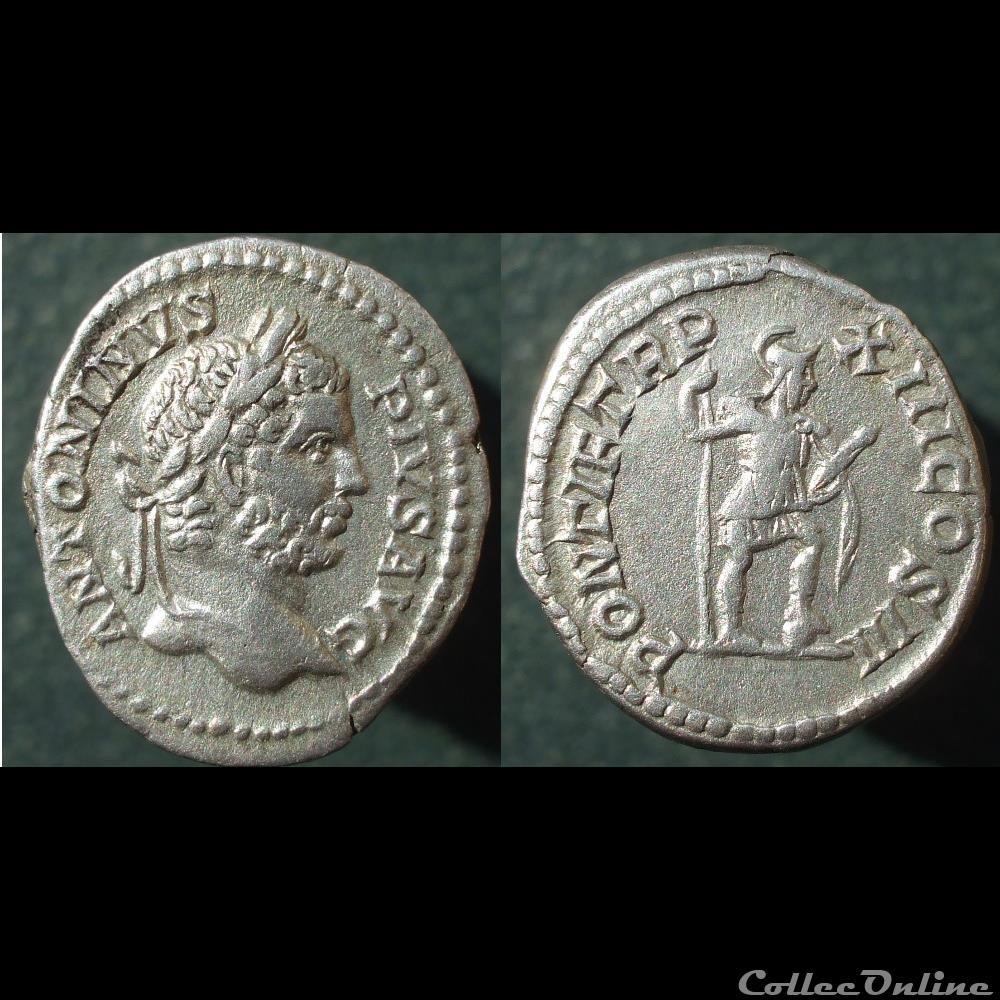 monnaie antique romaine caracalla denier virtus