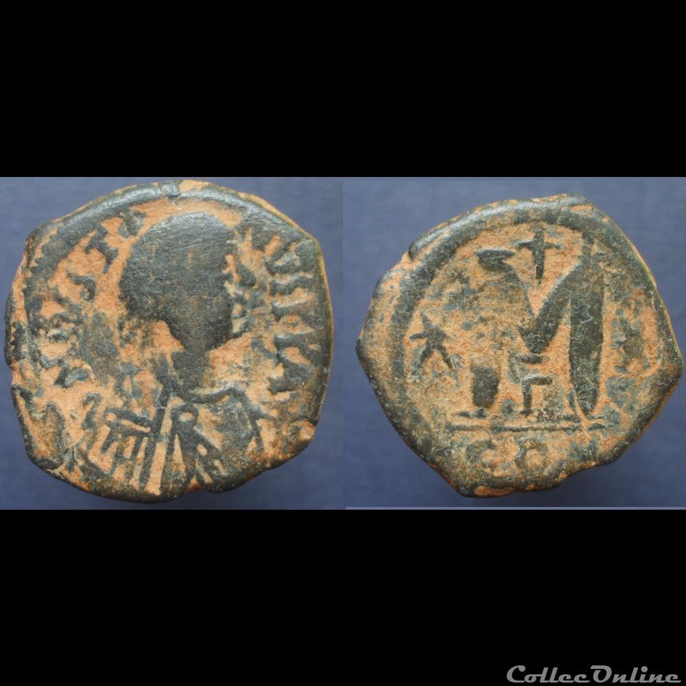 monnaie antique byzantine justin follis