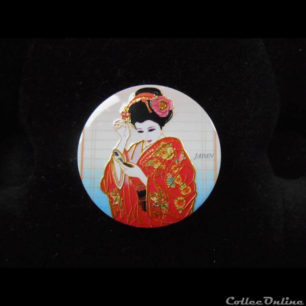 decoration magnet autocollant japon kyoto geisha miroir