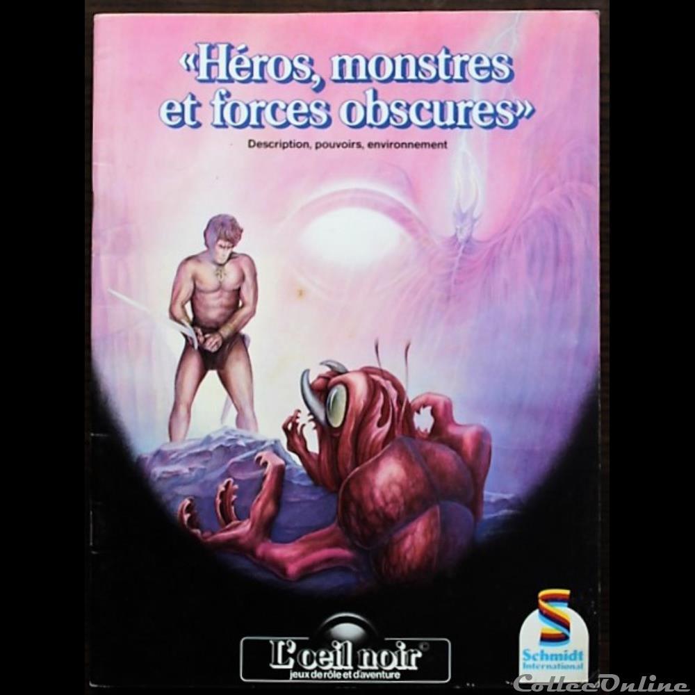 jeux jouet de role heros monstres et forces obscures