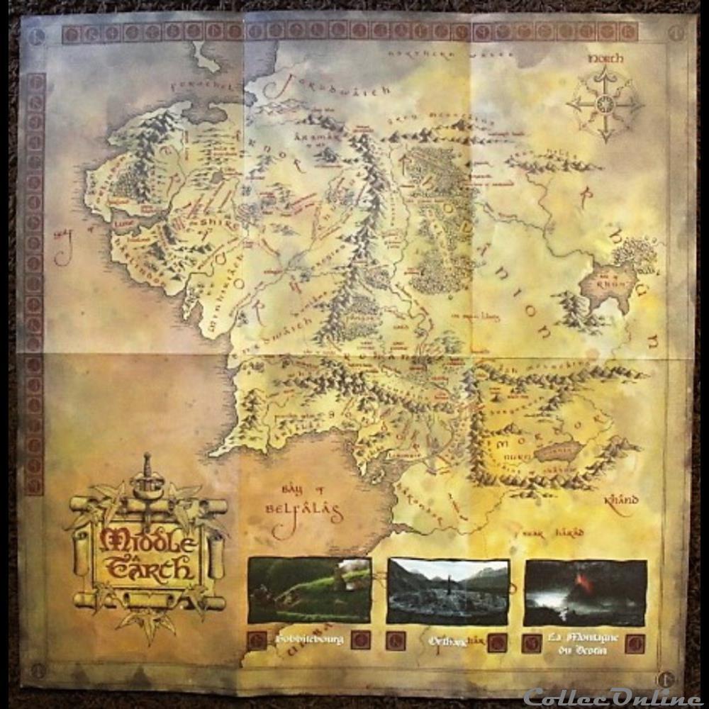 jeux jouet role carte des terres du milieu