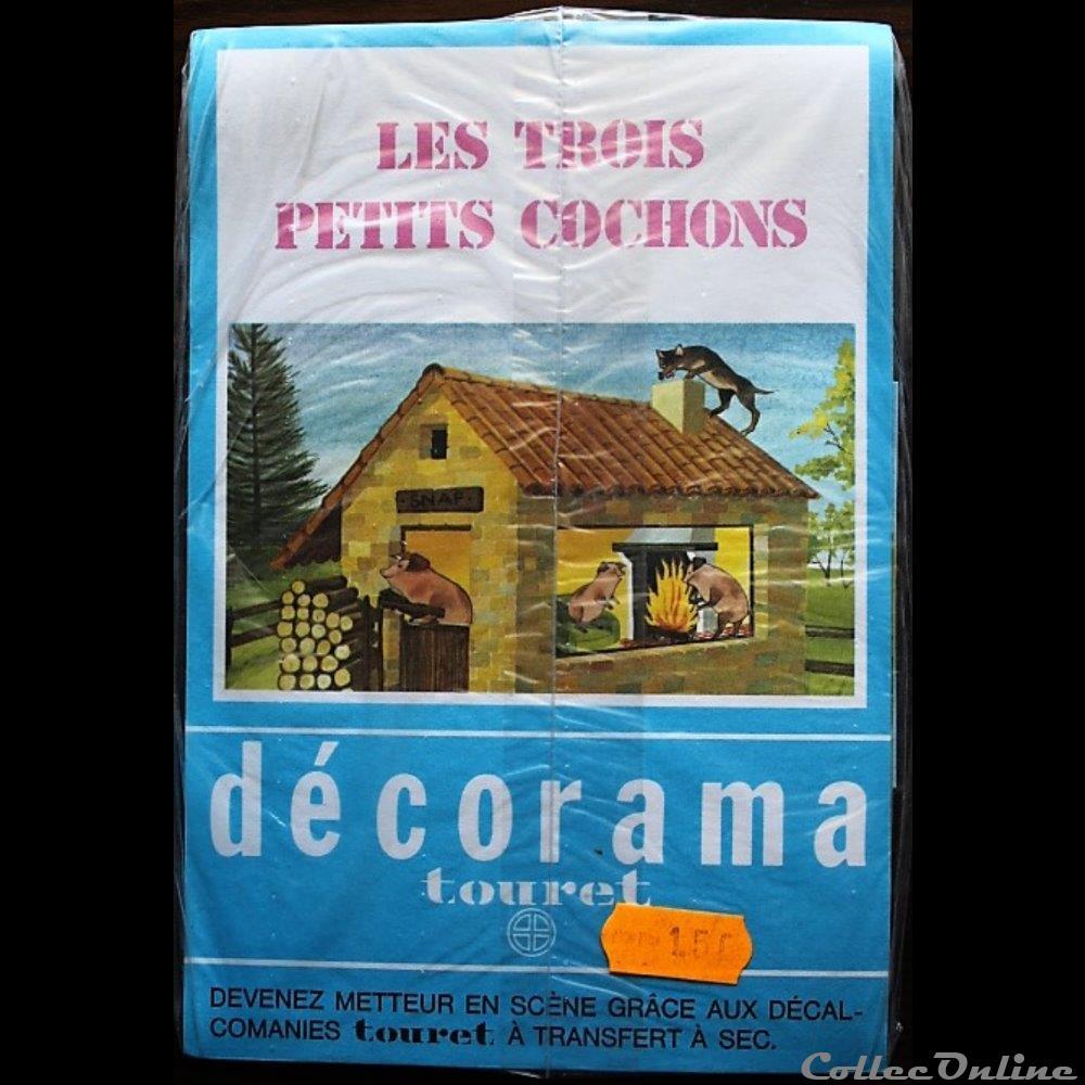 decoration magnet autocollant conte trois petits cochons les