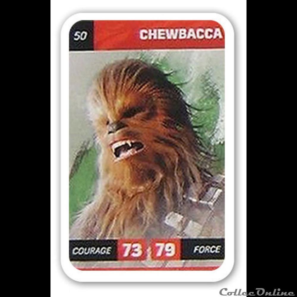 jeux jouet jeu de carte collectionner 50 chewbacca