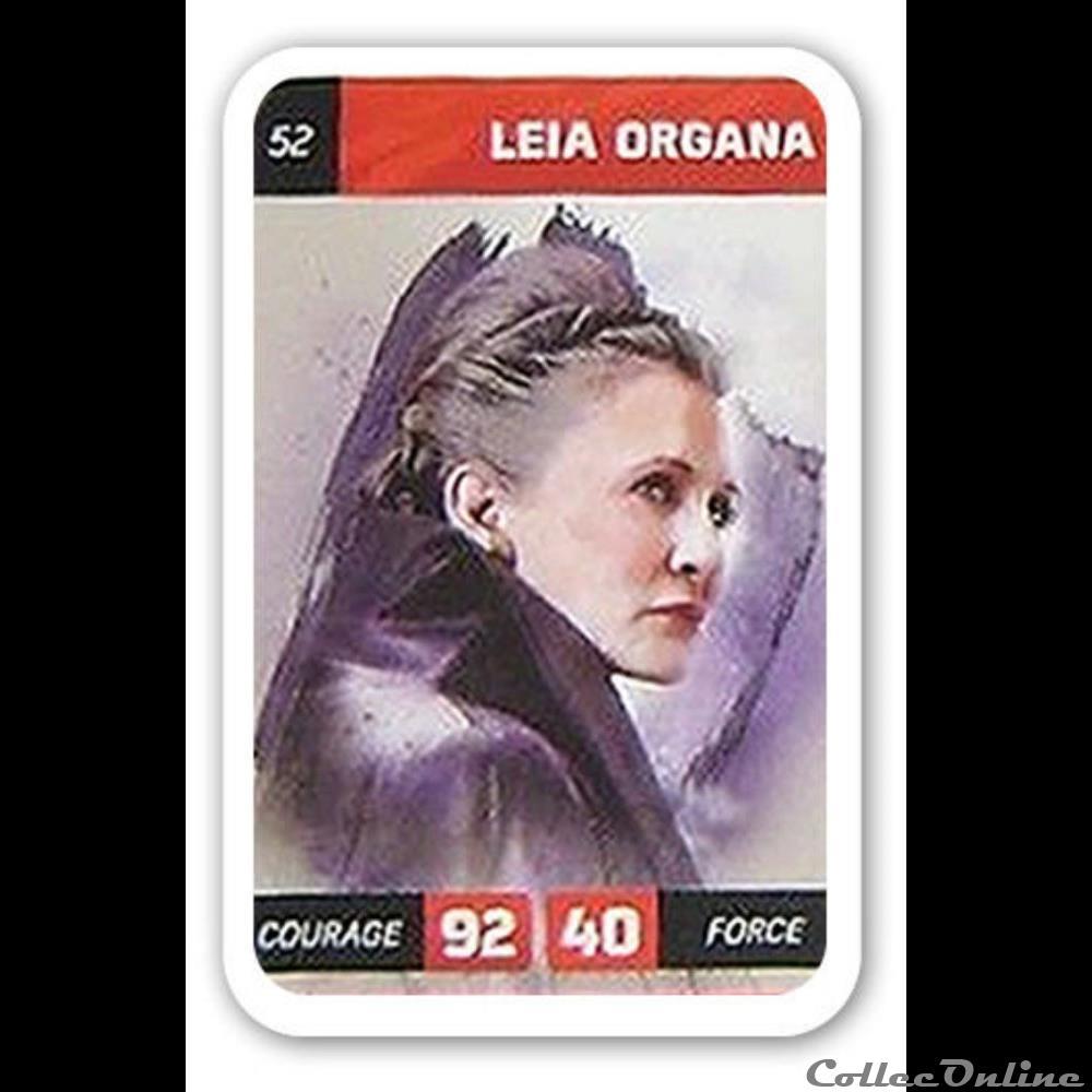 jeux jouet jeu de carte collectionner 52 leia organa
