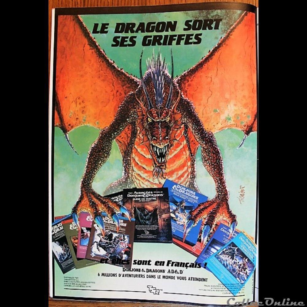 jeux jouet de role ad d 1988