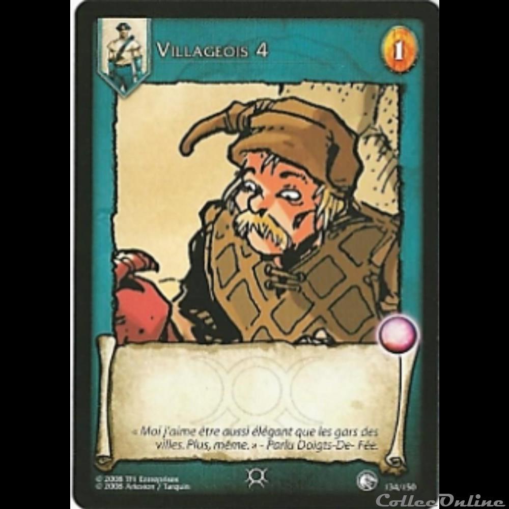 jeux jouet jeu carte collectionner lanfeust de troy 134 villageois 4