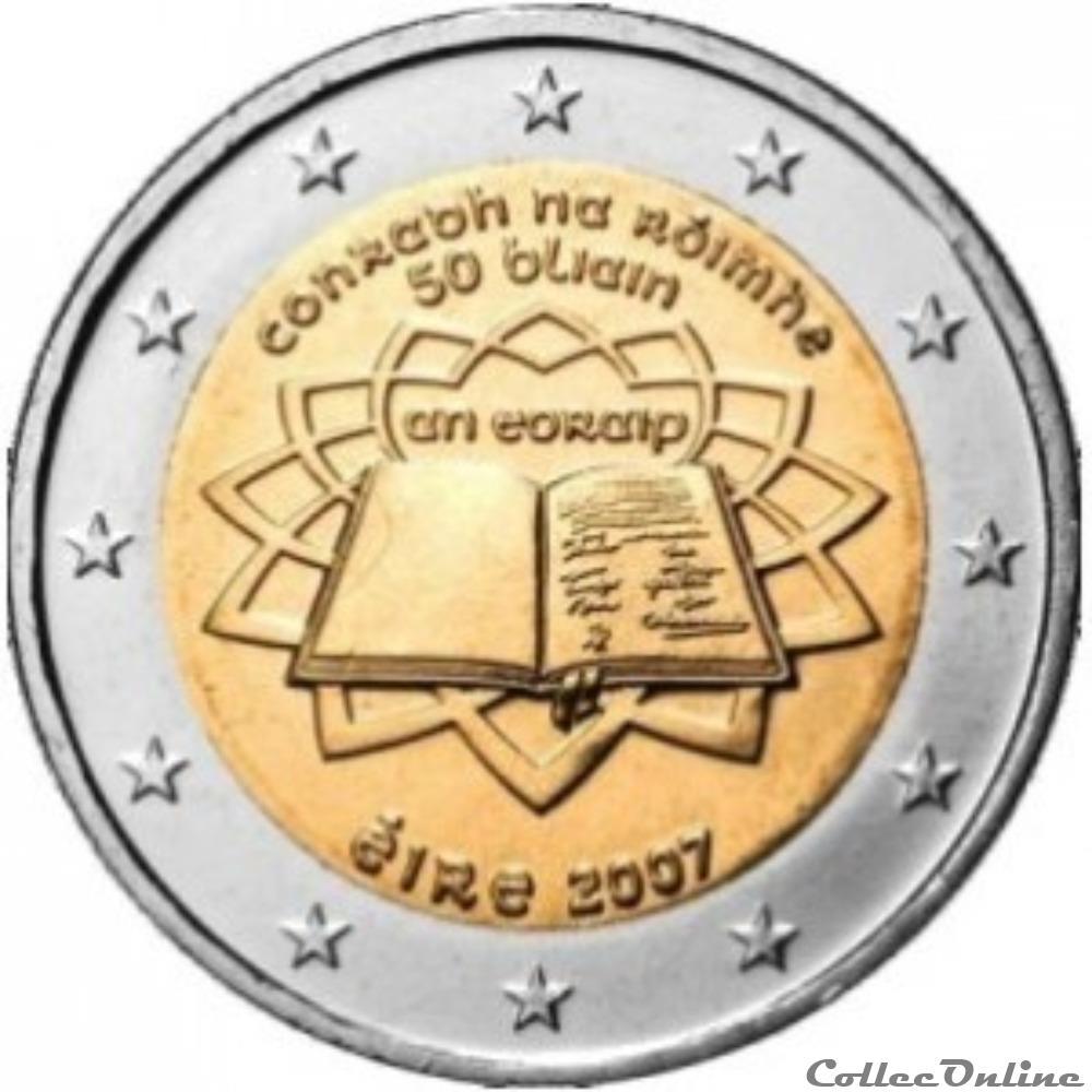 monnaie euro irlande traite de rome 50 ans