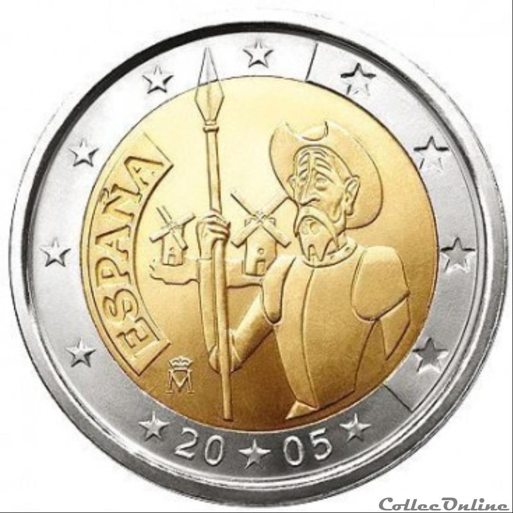 monnaie euro espagne don quichotte 2005