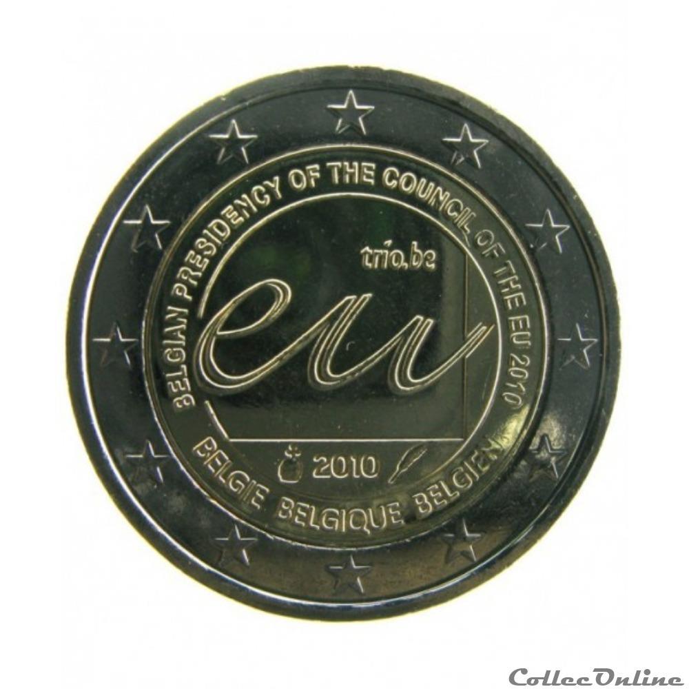 monnaie belgique 2 euros commemoratifs belge 2010