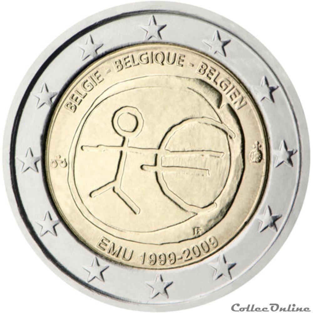 monnaie euro belgique uem 1999 2009