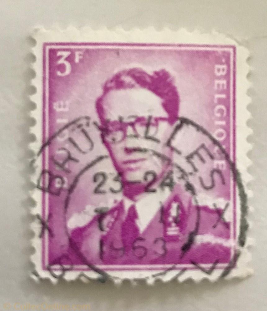 timbre baudouin 3f 1958