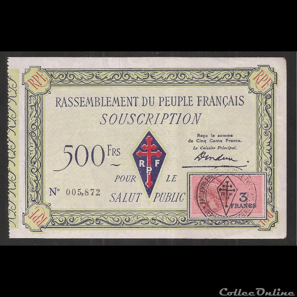 billet france diver 500f type 2