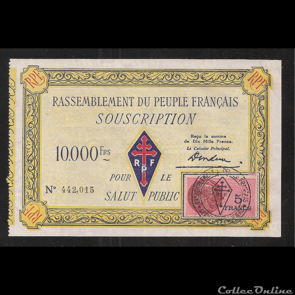 billet france diver 10 000 f type 2