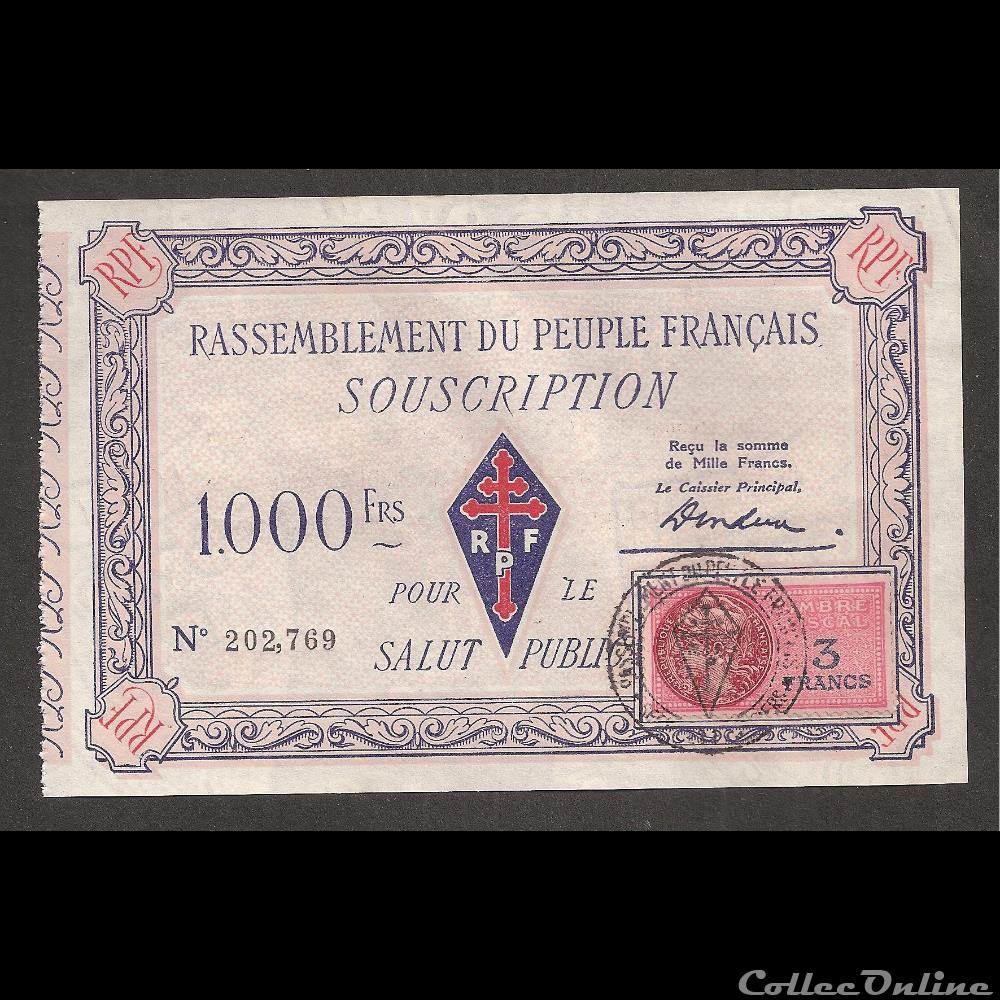 billet france diver 1000 f type 2