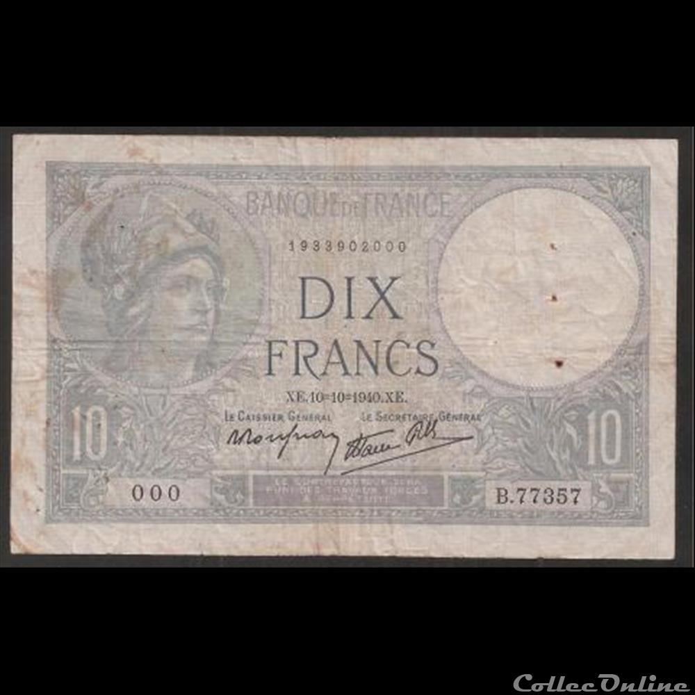 billet france diver 10 f minerve