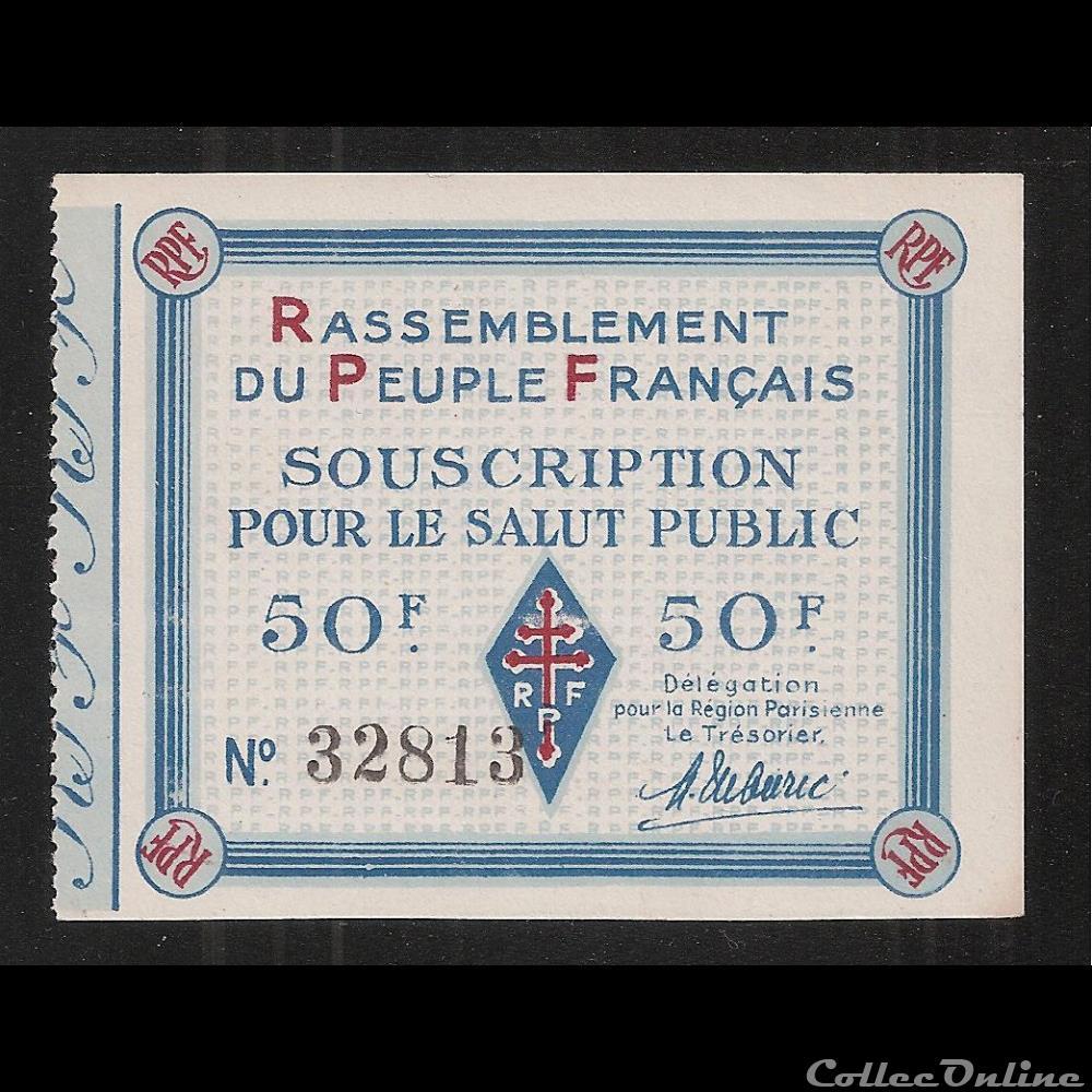 billet france diver 50 f