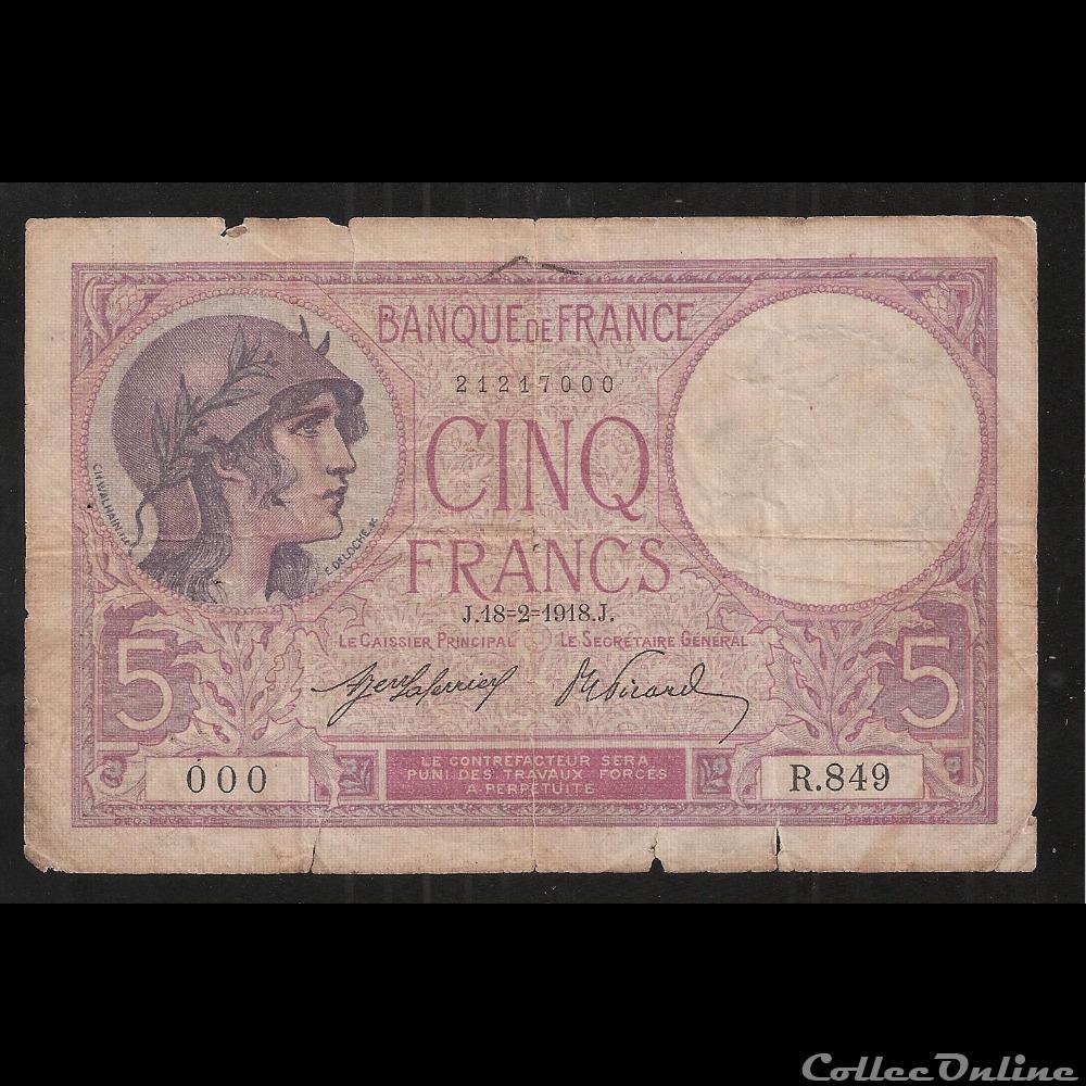billet france diver 5f violet