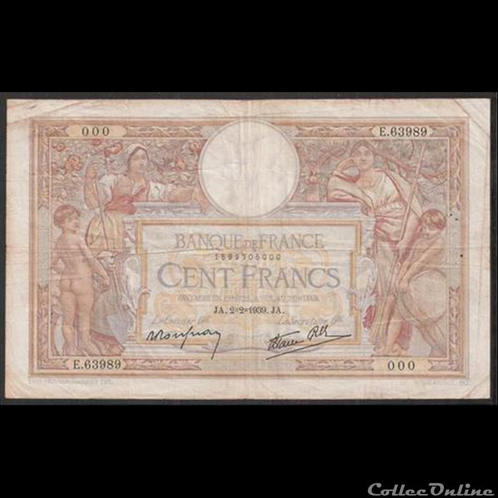 billet france diver 100 f merson