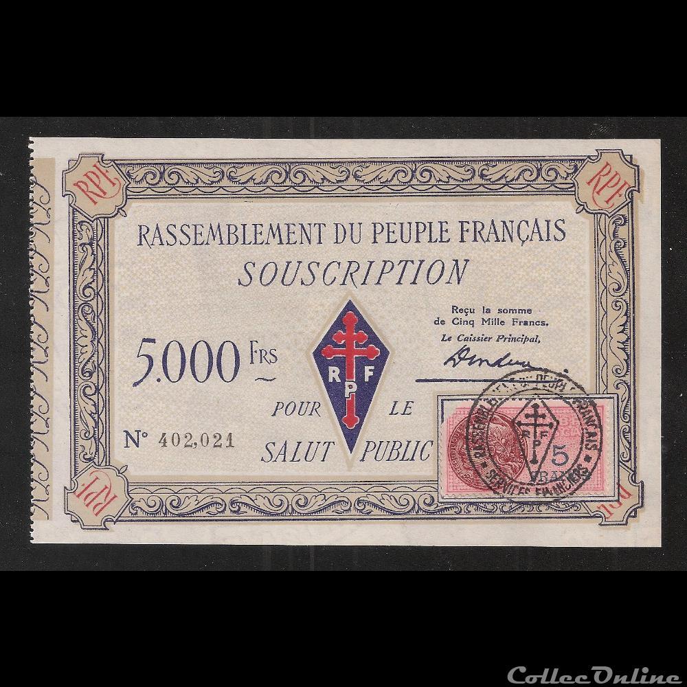 billet france diver 5 000 f type 2