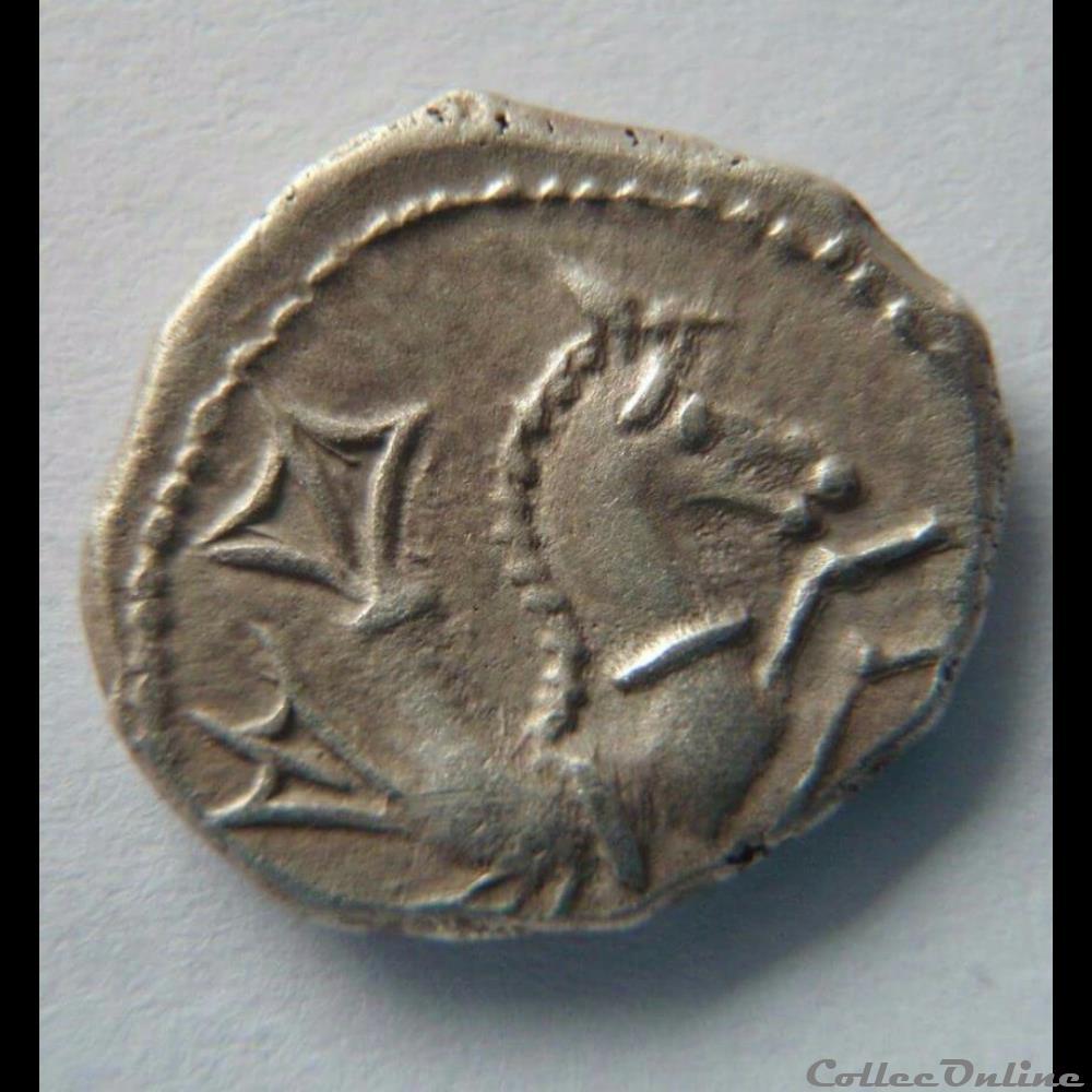 monnaie antique gauloise serie 866 dt 3127 denier a l hippocampe tete a droite