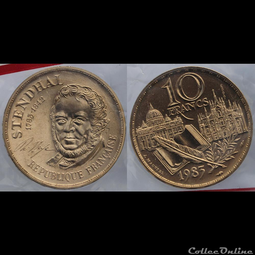 monnaie france moderne mauviel j 10 frs 1983 tranche b essai