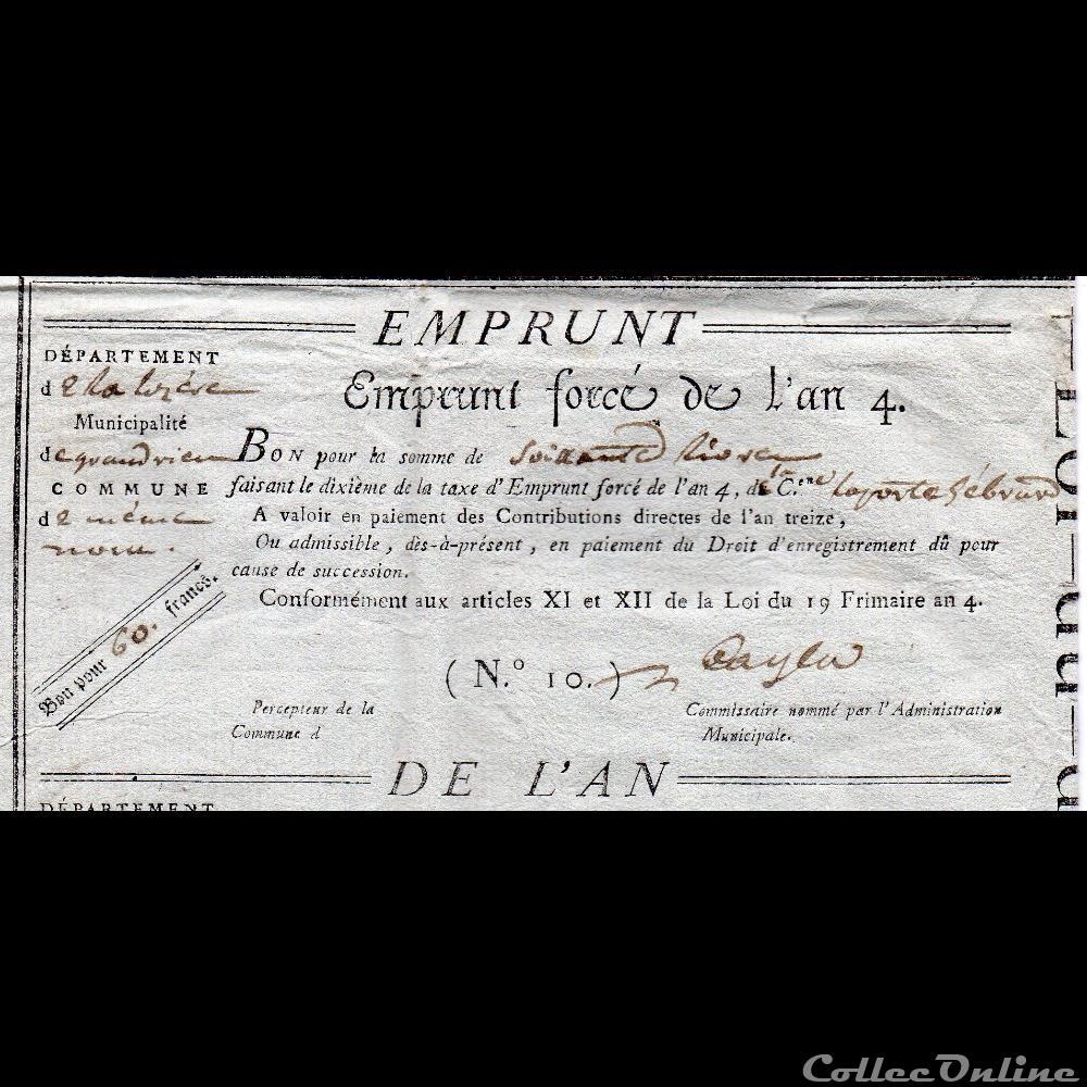 billet france diver bon pour 60 francs grandrieu lozere