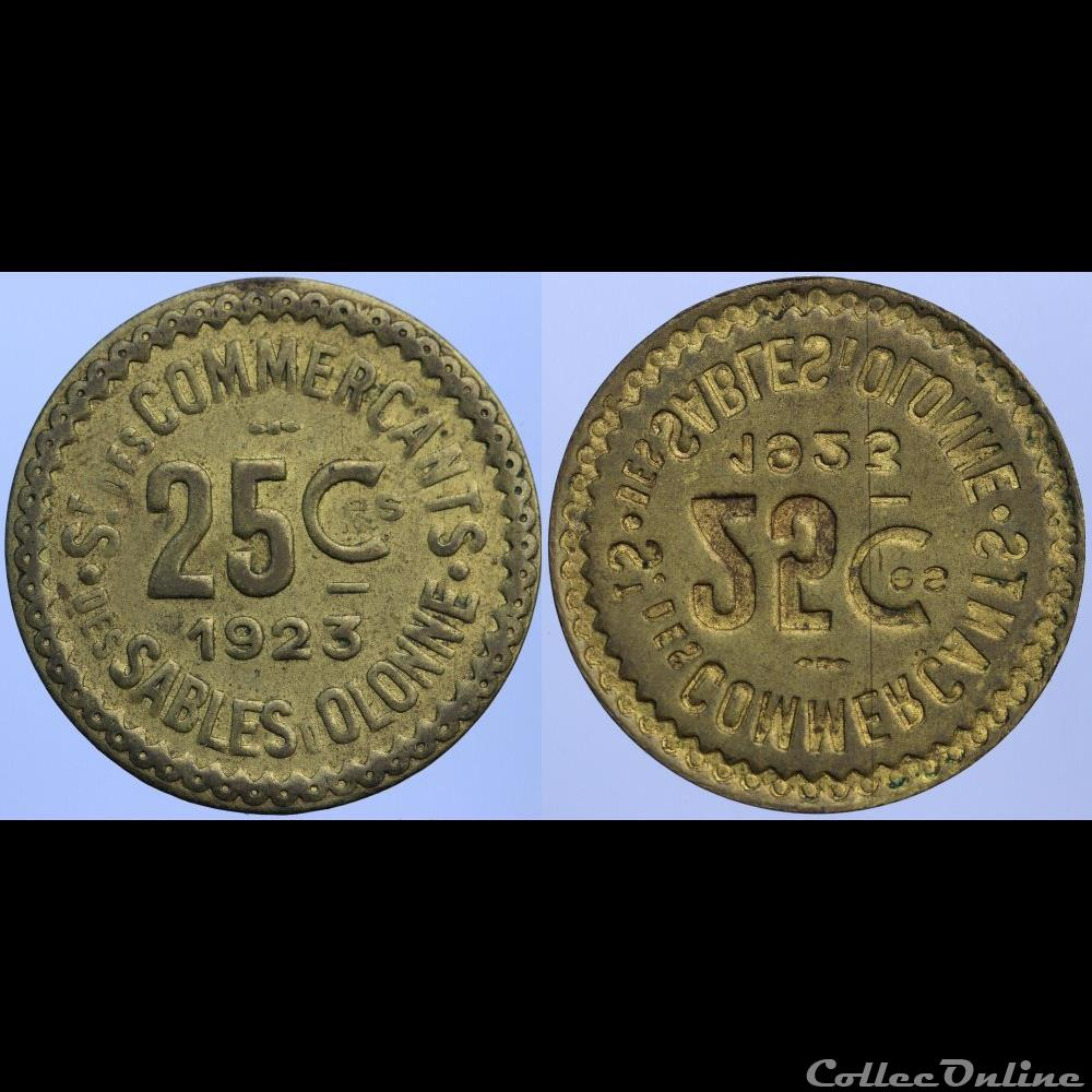 monnaie france necessite 85 sables olonne 25 centimes