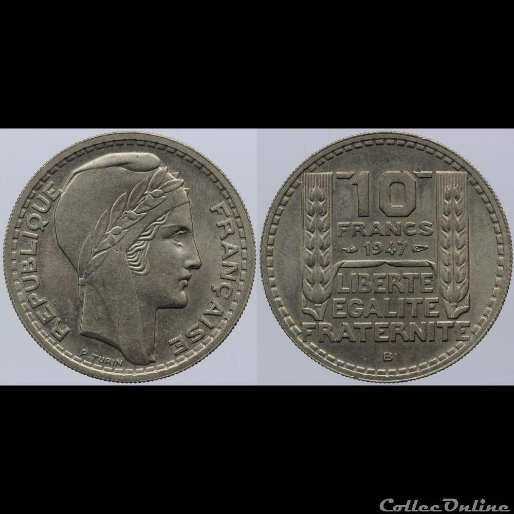 Turin 10 Fr 1947 B Gt Münzen Französische Münzen Modern
