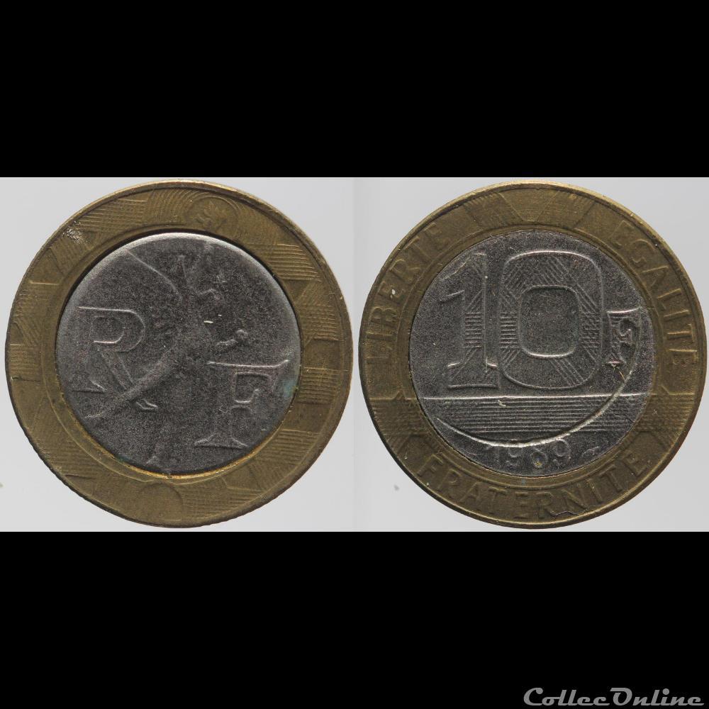 Génie 10 Fr 1989 Fausse Münzen Französische Münzen Modern