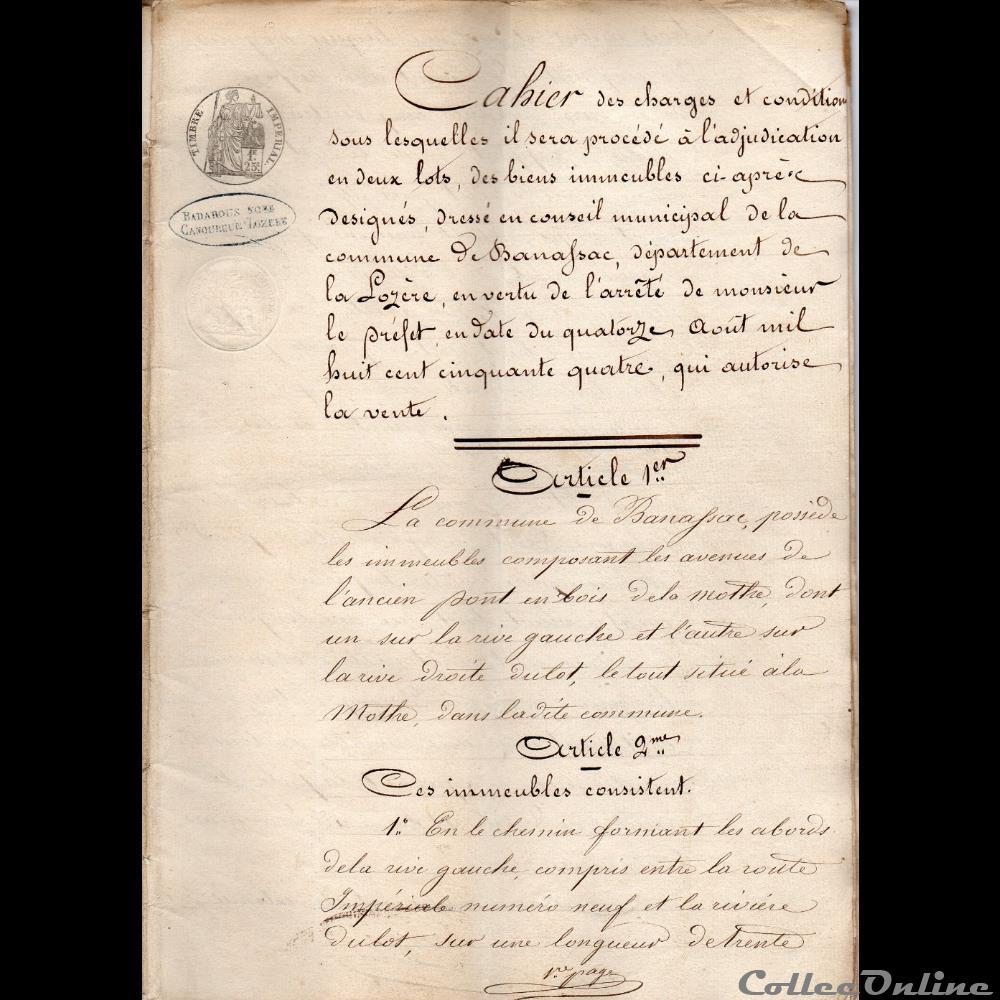 vieux papier autre montre ancienne cahier de charges et conditions pour ventes