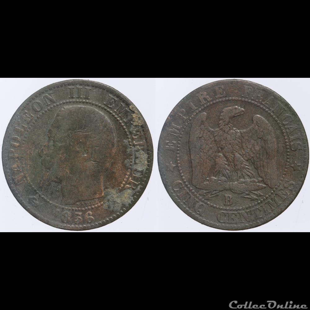 Second Empire 5 Centimes 1856 B Münzen Französische Münzen