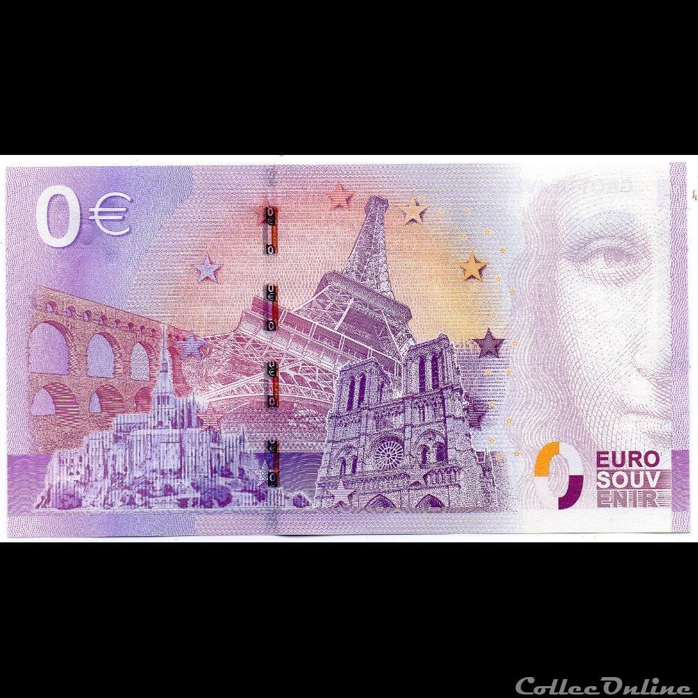 billet france diver euro souvenir