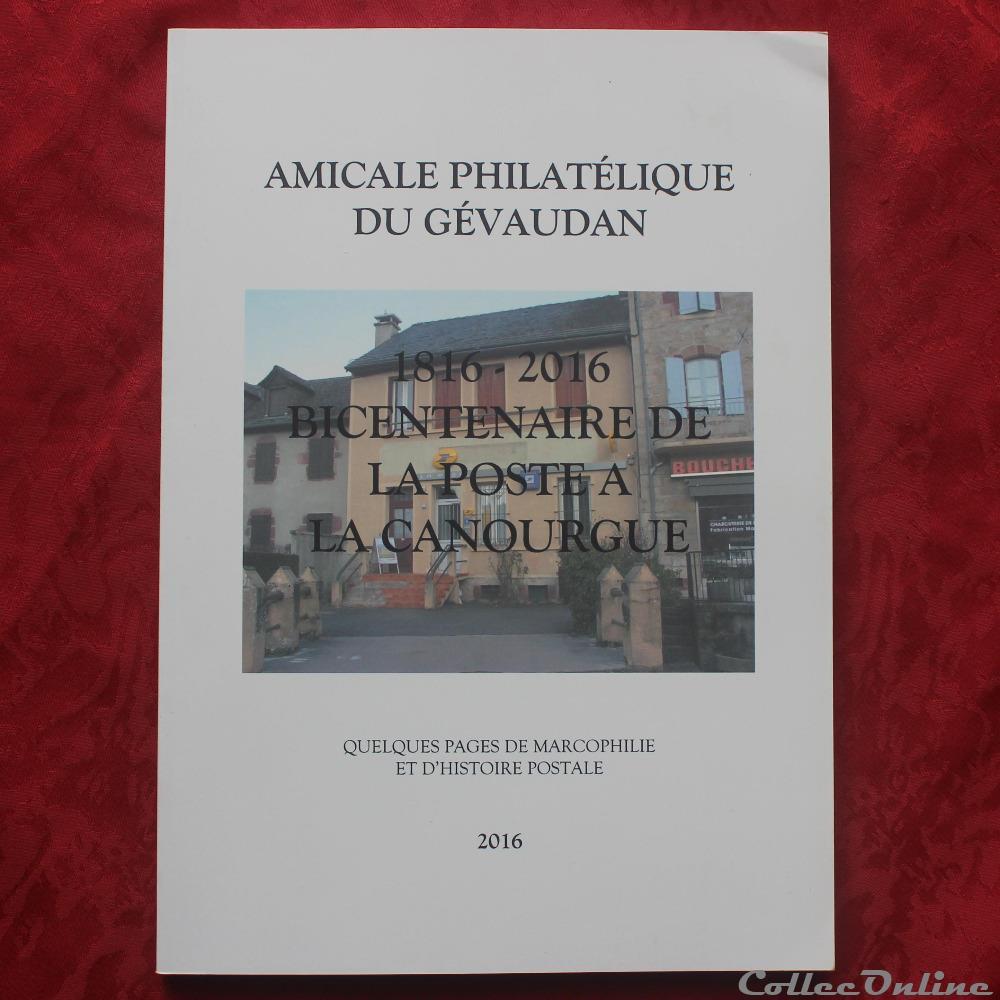 bd revue livre bicentenaire de la poste a la canourgue