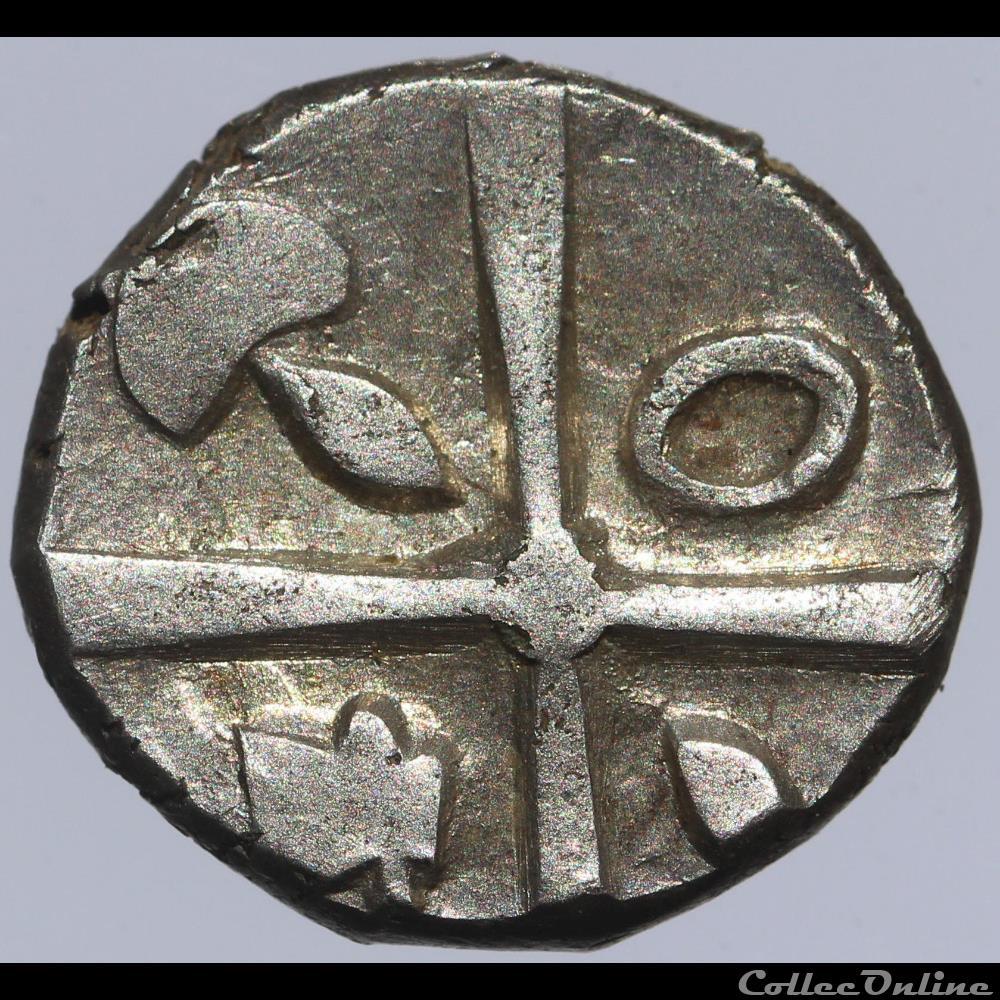 monnaie antique gauloise volques tectosages drachme cubiste