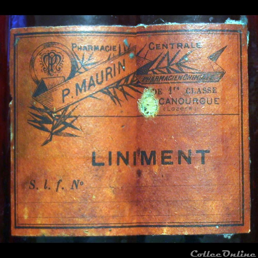 bistrot alimentation autre bouteille de liniment p maurin